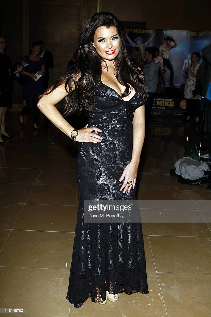 Jessica Wright attends the European premiere of 'Magic Mike' at The May Fair Hotel on July 10, 2012 in London, England.