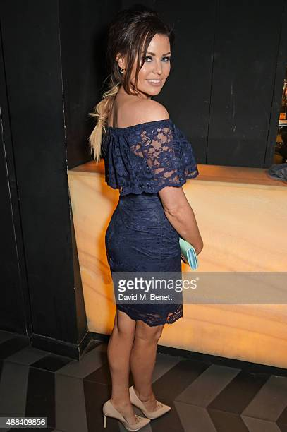 Jessica Wright attends the launch of a new collaboration between DSTRKT and FashionTV featuring the Bluebella Lingerie fashion show at DSTRKT on...