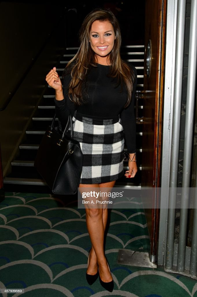 Jessica Wright attends the press night for 'Wicked' at Apollo Victoria Theatre on December 19, 2013 in London, England.