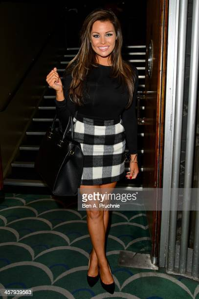 Jessica Wright attends the press night for 'Wicked' at Apollo Victoria Theatre on December 19 2013 in London England