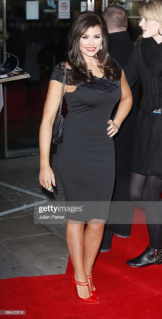 Jessica Wright attends the UK Premiere of 'Olympus Has Fallen' at BFI IMAX on April 3, 2013 in London, England.