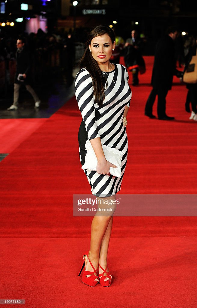 Jessica Wright attends the UK Premiere of 'Run For Your Wife' at Odeon Leicester Square on February 5 2013 in London England