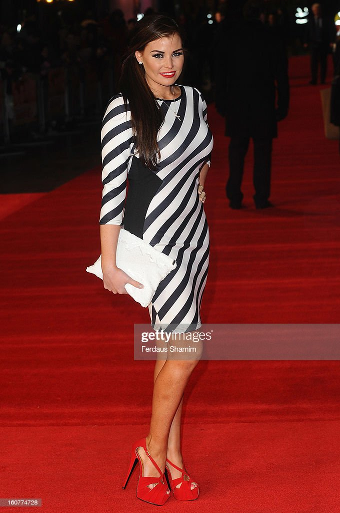Jessica Wright attends the UK Premiere of 'Run For Your Wife' at Odeon Leicester Square on February 5, 2013 in London, England.