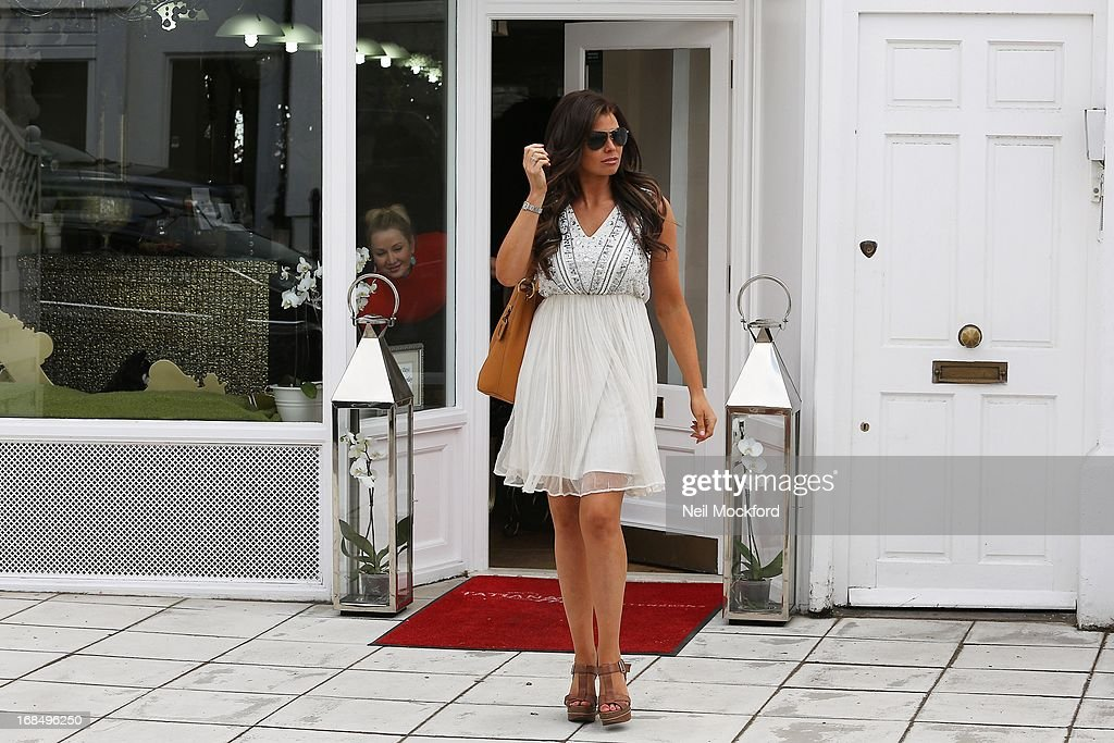Jessica Wright is sighted at Tatiana Hair Extensions on May 10, 2013 in London, England.