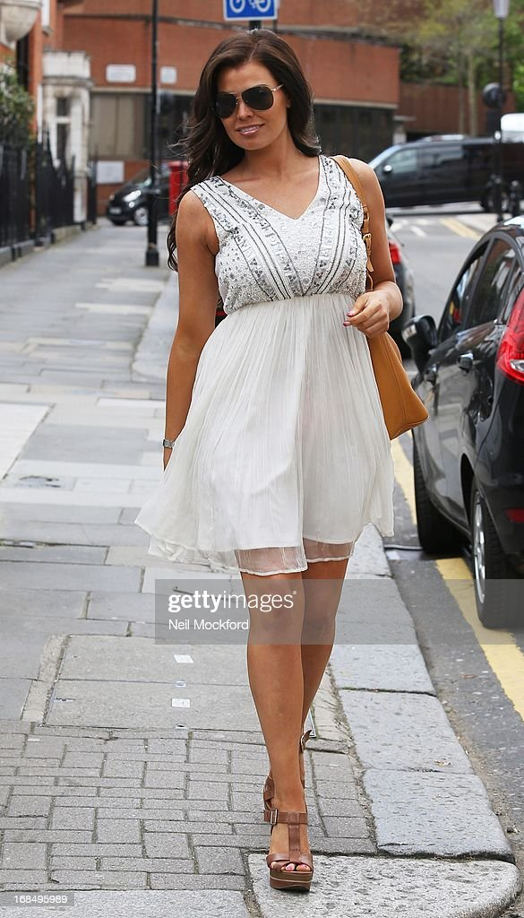 Jessica Wright is sighted Tatiana Hair Extensions on May 10, 2013 in London, England.