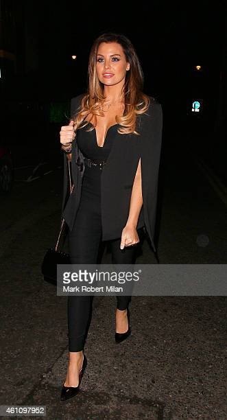 Jessica Wright leaving Coya restaurant on January 6 2015 in London England