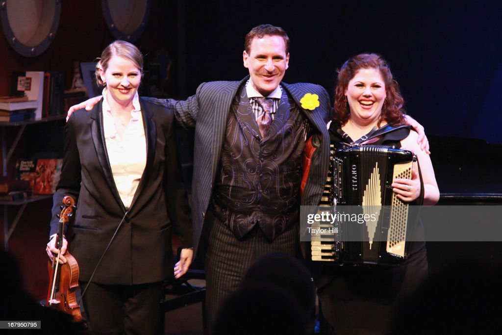 Jessica Wright, Mark Nadler, and Franca Vercelloni take a bow at the 'I'm A Stranger Here Myself' Off Broadway Opening Night at The York Theatre at Saint Peter's on May 2, 2013 in New York City.