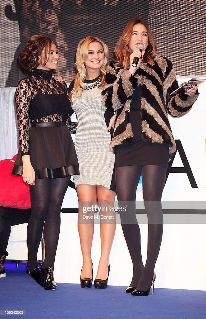 Jessica Wright, Sam Faiers and Lisa Snowdon attend the Samsung Smart TV Angry Birds Party at Westfield Stratford City on December 13, 2012 in London, England.