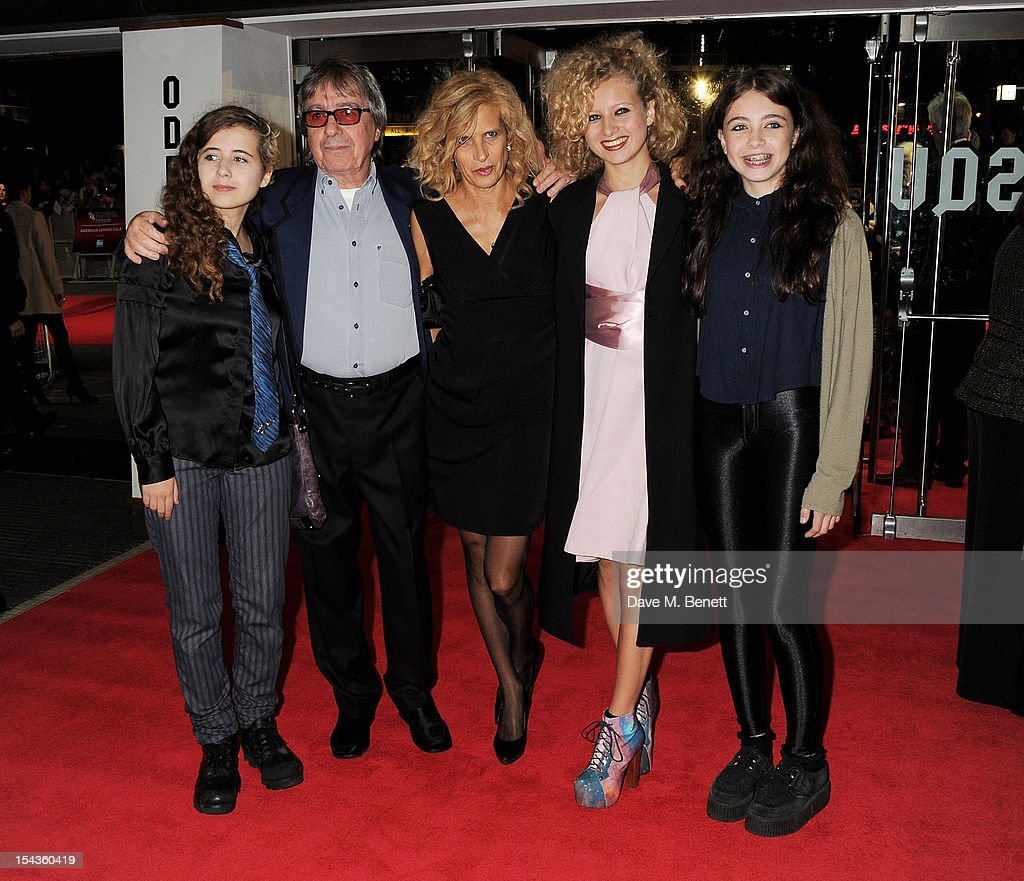 Jessica Wyman, Bill Wyman, Suzanne Wyman, Katherine Wyman and Matilda Wyman attend the Gala Premiere of 'Crossfire Hurricane' during the 56th BFI London Film Festival at Odeon Leicester Square on October 18, 2012 in London, England.