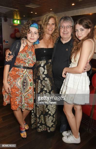 Jessica Wyman Suzanne Wyman Bill Wyman and Matilda Mae Wyman attend Sticky Fingers' 28th Birthday hosted by Bill Wyman on July 6 2017 in London...
