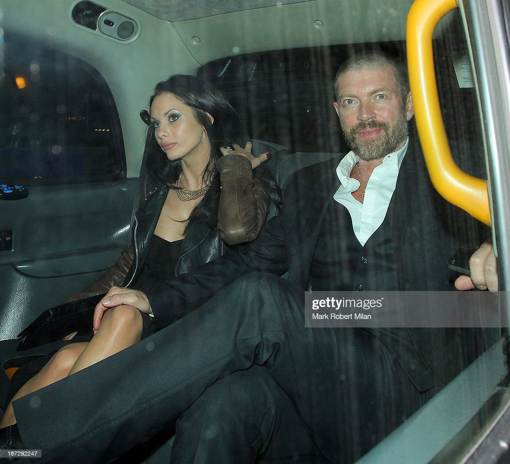 Jessica-Jane Clement and Lee Stafford at Annabel's club on April 23, 2013 in London, England.