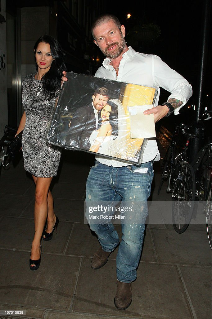 Jessica-Jane Clement and Lee Stafford at the Groucho club on April 25, 2013 in London, England.