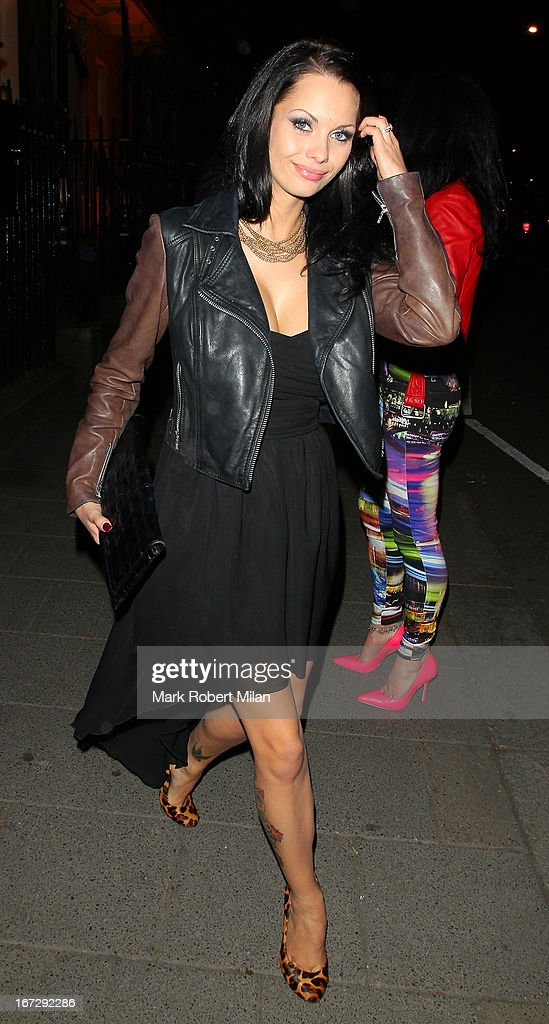 Jessica-Jane Clement at Annabel's club on April 23, 2013 in London, England.