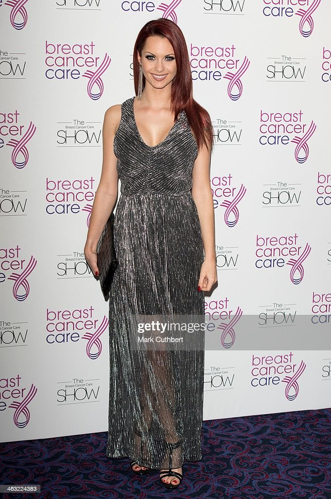 Jessica-Jane Clement attends Breast Cancer Care's Fashion Show to kick off Breast Cancer Awareness Month at Grosvenor House, on October 3, 2012 in London, England.