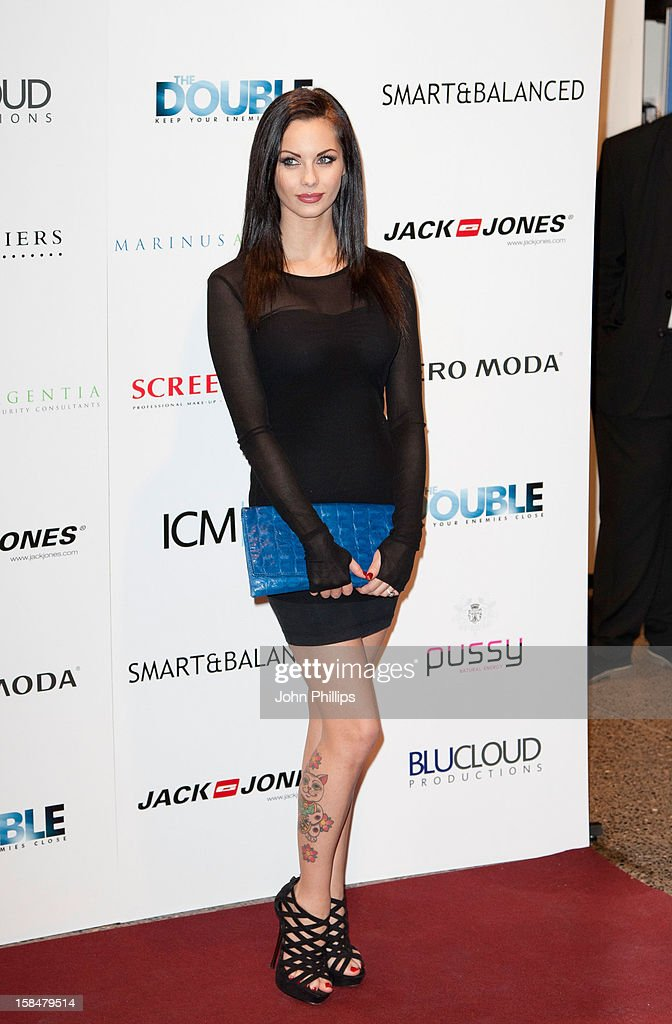 <a gi-track='captionPersonalityLinkClicked' href=/galleries/search?phrase=Jessica-Jane+Clement&family=editorial&specificpeople=4695040 ng-click='$event.stopPropagation()'>Jessica-Jane Clement</a> attends the UK Film Premiere of 'The Double' on December 17, 2012 in London, England.