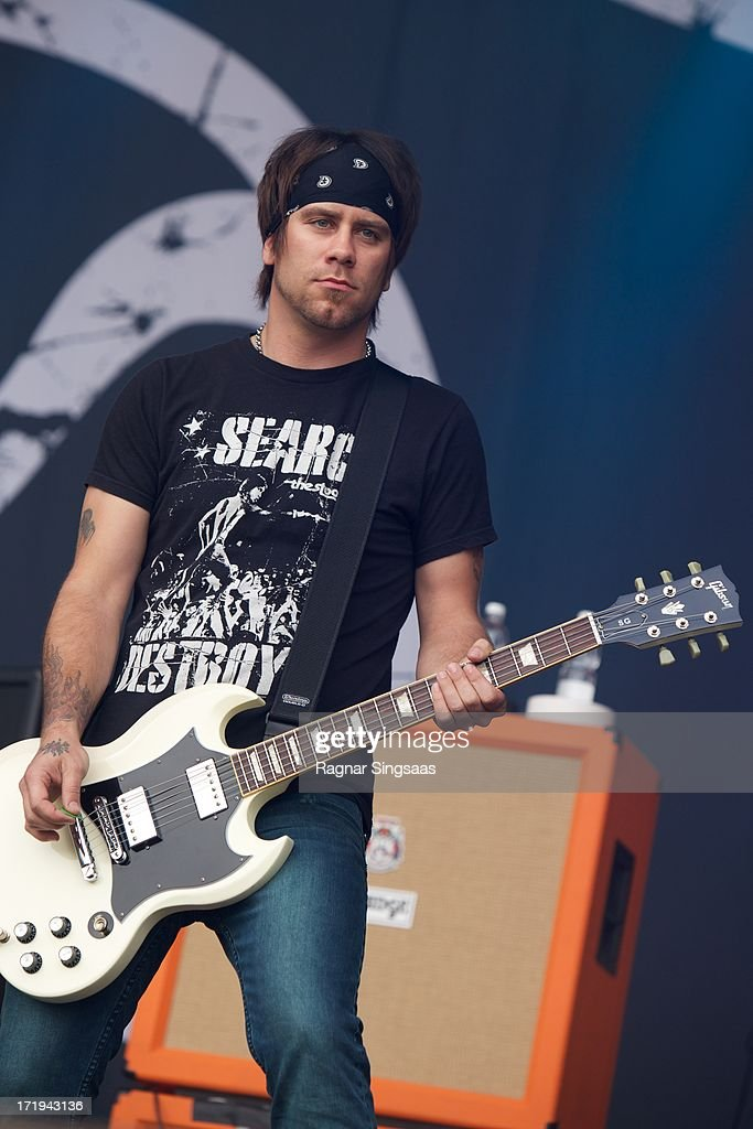 Jessie Farnsworth of Newsted performs on stage on Day 4 of Rock The Beach Festival on June 29, 2013 in Helsinki, Finland.