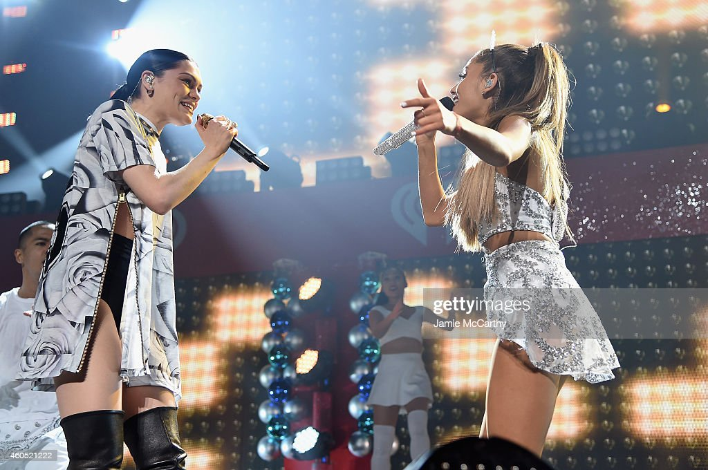 Jessie J And Ariana Grande Perform Onstage During Hot 99 5 S Jingle Ball 2017