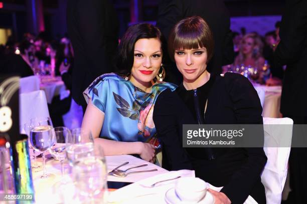 Jessie J and Coco Rocha attend the 2014 Delete Blood Cancer Gala Honoring Evan Sohn and the Sohn Conference Foundation at Cipriani Wall Street on May...