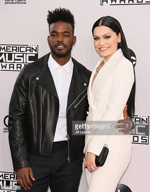 Jessie J and Luke James attends the 2014 American Music Awards at Nokia Theatre LA Live on November 23 2014 in Los Angeles California