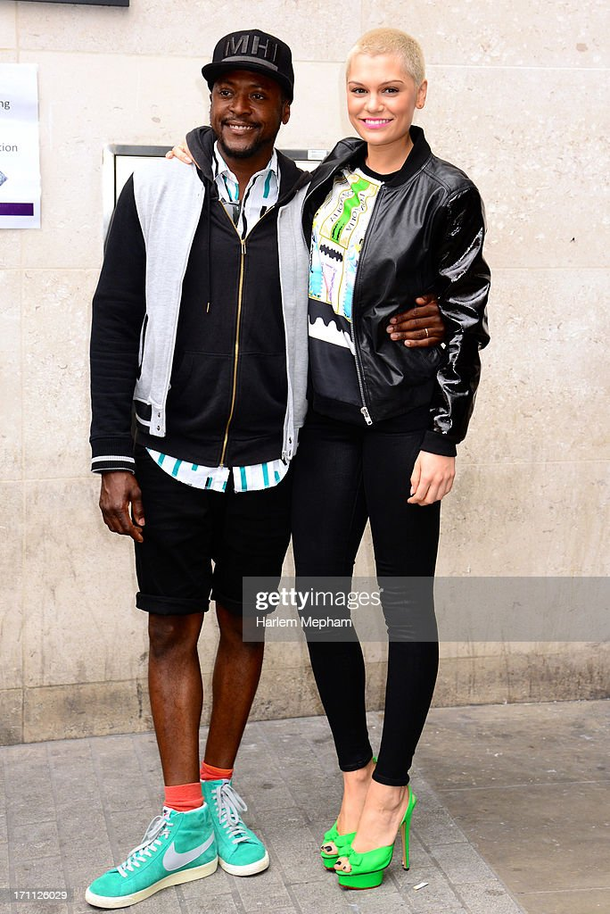 <a gi-track='captionPersonalityLinkClicked' href=/galleries/search?phrase=Jessie+J&family=editorial&specificpeople=5737661 ng-click='$event.stopPropagation()'>Jessie J</a> (R) and 'The Voice UK' series 2 contestant <a gi-track='captionPersonalityLinkClicked' href=/galleries/search?phrase=Matt+Henry+-+Singer&family=editorial&specificpeople=14726114 ng-click='$event.stopPropagation()'>Matt Henry</a> sighted at BBC Radio One studios on June 21, 2013 in London, England.