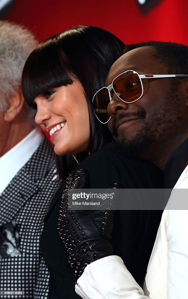 Jessie J and Will.i.am (R) attend a photocall to launch the second series of The Voice at Soho Hotel on March 11, 2013 in London, England.