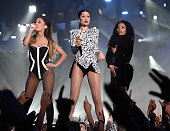 Jessie J Ariana Grande and Nicki Minaj perform onstage during the 2014 MTV Video Music Awards at The Forum on August 24 2014 in Inglewood California