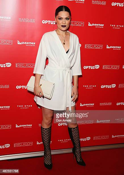Jessie J arrives at Nova's Red Room Global Tour at The Star on July 30 2015 in Sydney Australia