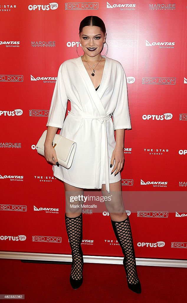 Jessie J arrives at Nova's Red Room Global Tour at The Star on July 30, 2015 in Sydney, Australia.