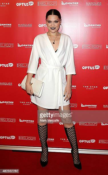 Jessie J arrives at Nova's Red Room Global Tour at The Star on July 30 2015 in Sydney Australia