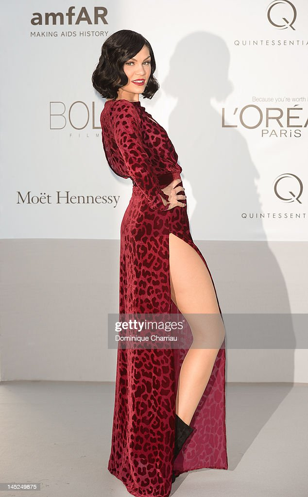 <a gi-track='captionPersonalityLinkClicked' href=/galleries/search?phrase=Jessie+J&family=editorial&specificpeople=5737661 ng-click='$event.stopPropagation()'>Jessie J</a> arrives at the 2012 amfAR's Cinema Against AIDS during the 65th Annual Cannes Film Festival at Hotel Du Cap on May 24, 2012 in Cap D'Antibes, France.
