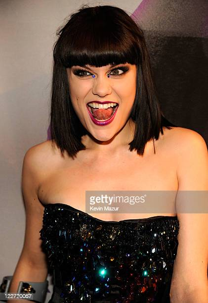 Jessie J arrives at the The 28th Annual MTV Video Music Awards at Nokia Theatre LA LIVE on August 28 2011 in Los Angeles California