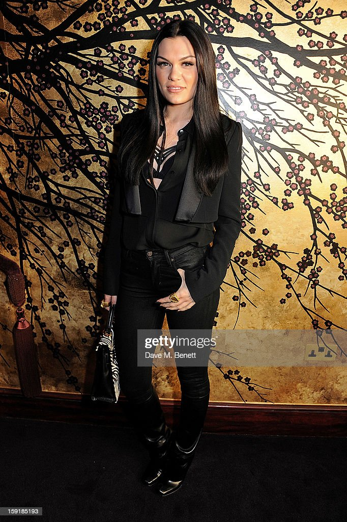 Jessie J attends a private dinner hosted by Tom Ford to celebrate his runway show during London Collections: MEN AW13 at Loulou's on January 9, 2013 in London, England.