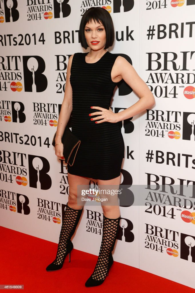 <a gi-track='captionPersonalityLinkClicked' href=/galleries/search?phrase=Jessie+J&family=editorial&specificpeople=5737661 ng-click='$event.stopPropagation()'>Jessie J</a> attends the 2014 BRIT Awards nominations at ITV Studios on January 9, 2014 in London, England.