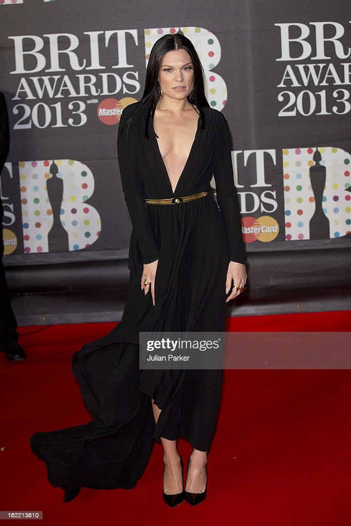 Jessie J attends the Brit Awards 2013 at the 02 Arena on February 20, 2013 in London, England.
