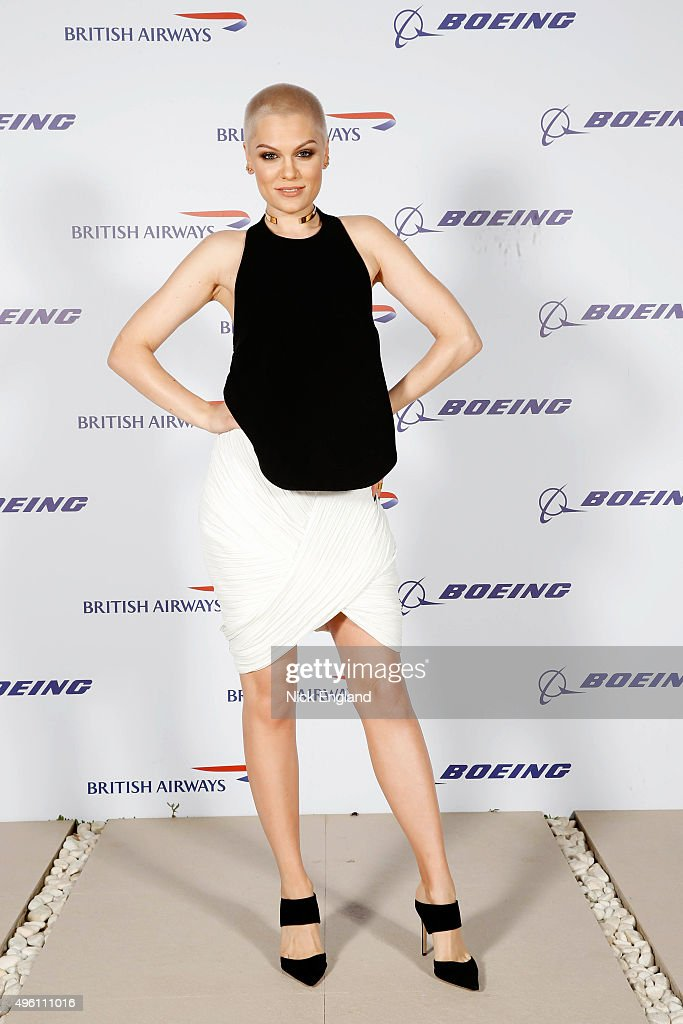 Jessie J. attends the British Airways celebration of the launch of its new Boing 787-9 Dreamliner on its daily London-Abu Dhabi-Muscat service. British Airways hosts a secret island party with Australian actress Margot Robbie, Hollywood star Orlando Bloom and a surprise live performance from chart star and judge of TV's The Voice, Jessie J. at Zaya Nurai Island on November 6, 2015 in Abu Dhabi, United Arab Emirates.
