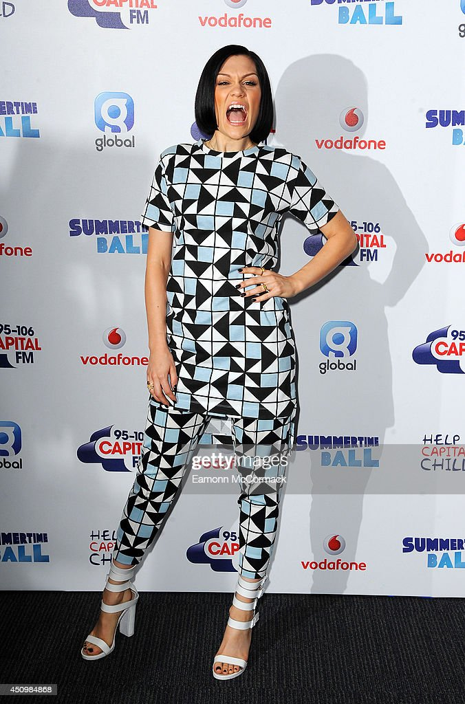 Jessie j attends the capital summertime ball at wembley stadium on