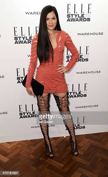 Jessie J attends the Elle Style Awards 2014 at one Embankment on February 18 2014 in London England