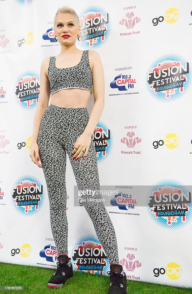 Jessie J backstage on Day 1 of Fusion Festival 2013 at Cofton Park on August 31, 2013 in Birmingham, England.