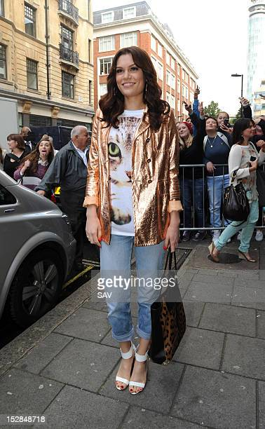 Jessie J is pictured leaving Radio 1 on September 27 2012 in London England
