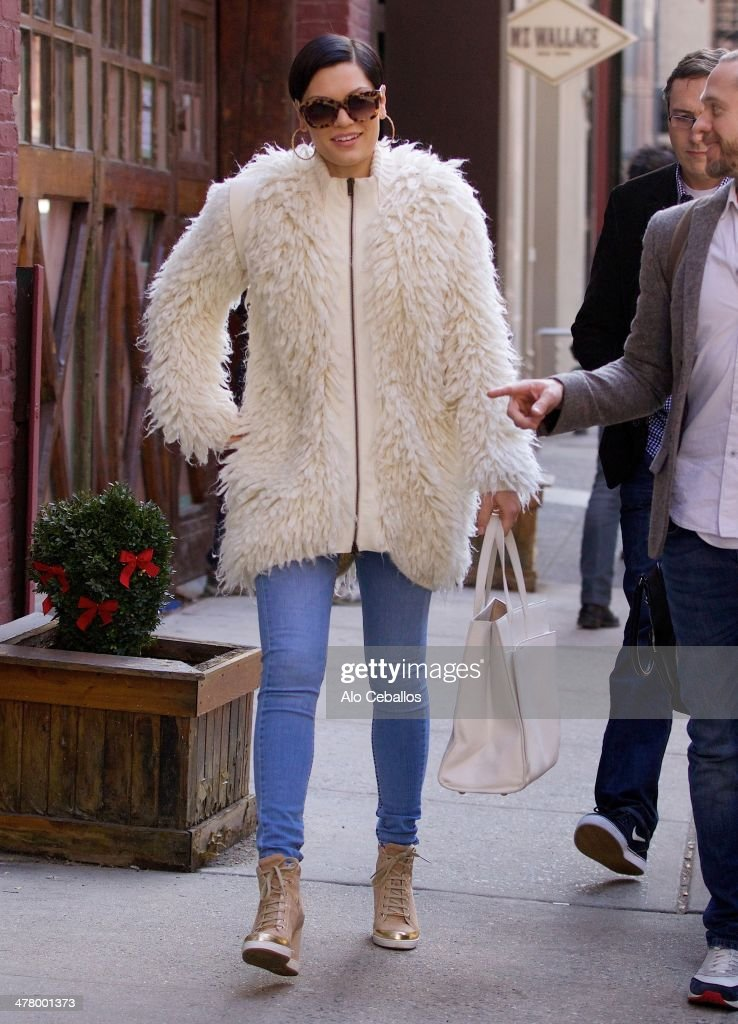 Jessie J is seen in Soho on March 11, 2014 in New York City.