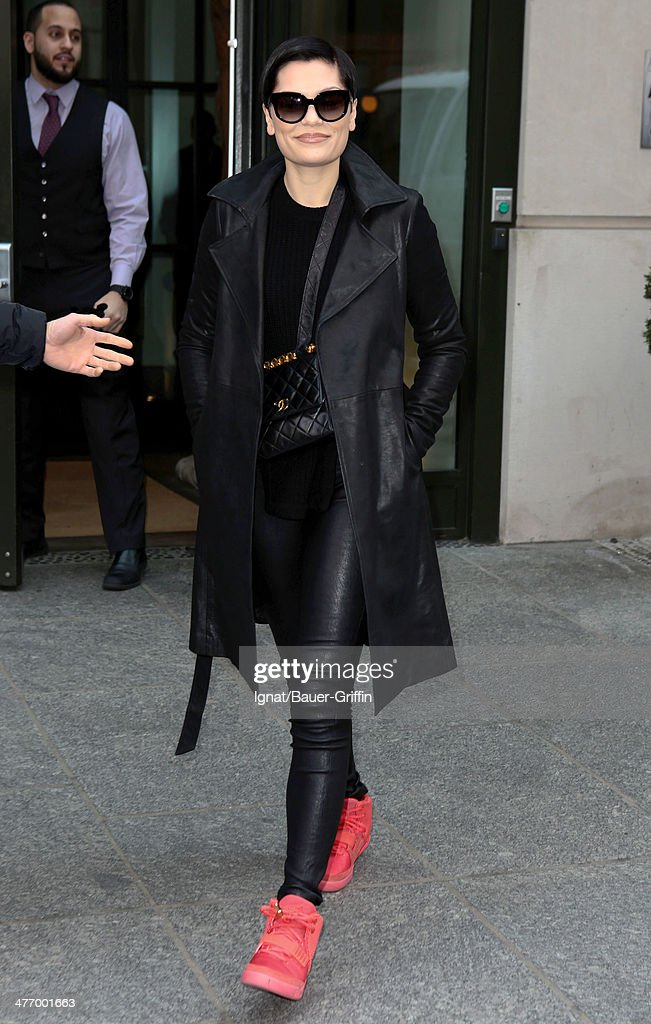 Jessie J is seen on March 06, 2014 in New York City.