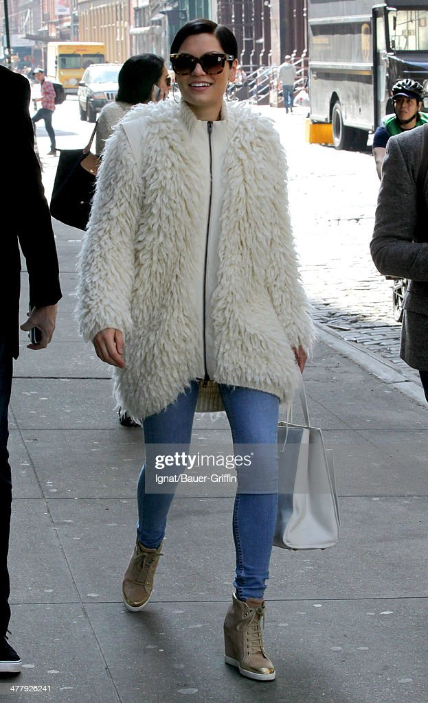 Jessie J is seen on March 11, 2014 in New York City.