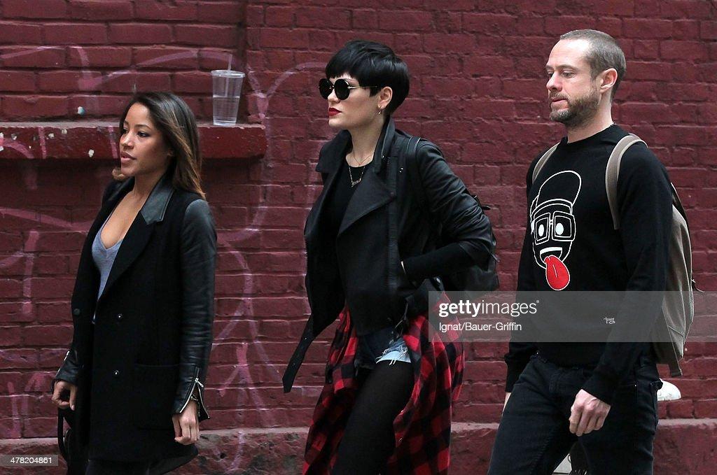 Jessie J is seen walking on March 12, 2014 in New York City.