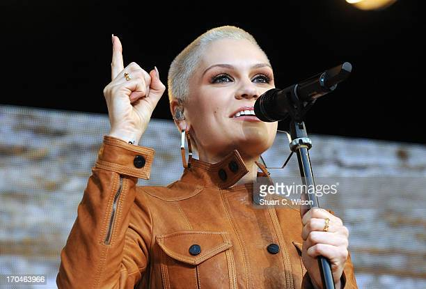 Jessie J performing at agit8 at Tate Modern ONE's campaign ahead of the G8 at Tate Modern on June 13 2013 in London England