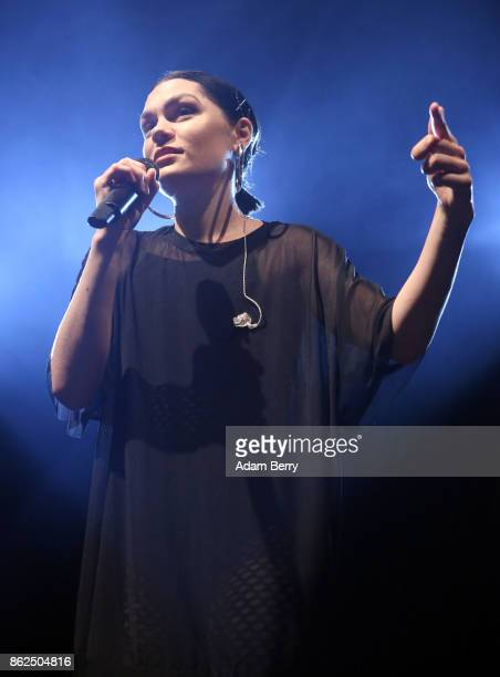 Jessie J performs during a concert at Huxleys Neue Welt on October 17 2017 in Berlin Germany