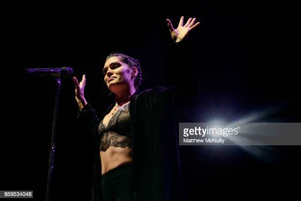 Jessie J performs live on stage at The Albert Hall on October 9 2017 in Manchester England