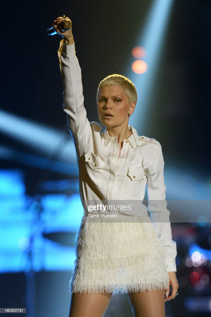 <a gi-track='captionPersonalityLinkClicked' href=/galleries/search?phrase=Jessie+J&family=editorial&specificpeople=5737661 ng-click='$event.stopPropagation()'>Jessie J</a> performs live on stage at the Unity concert in memory of Stephen Lawrence at O2 Arena on September 29, 2013 in London, England.