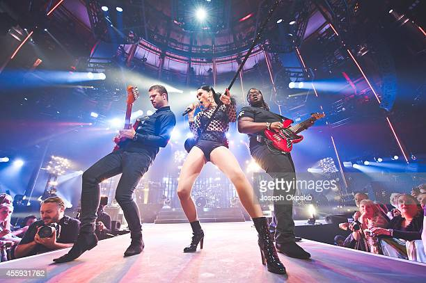 Jessie J performs on stage at iTunes Festival at The Roundhouse on September 22 2014 in London United Kingdom
