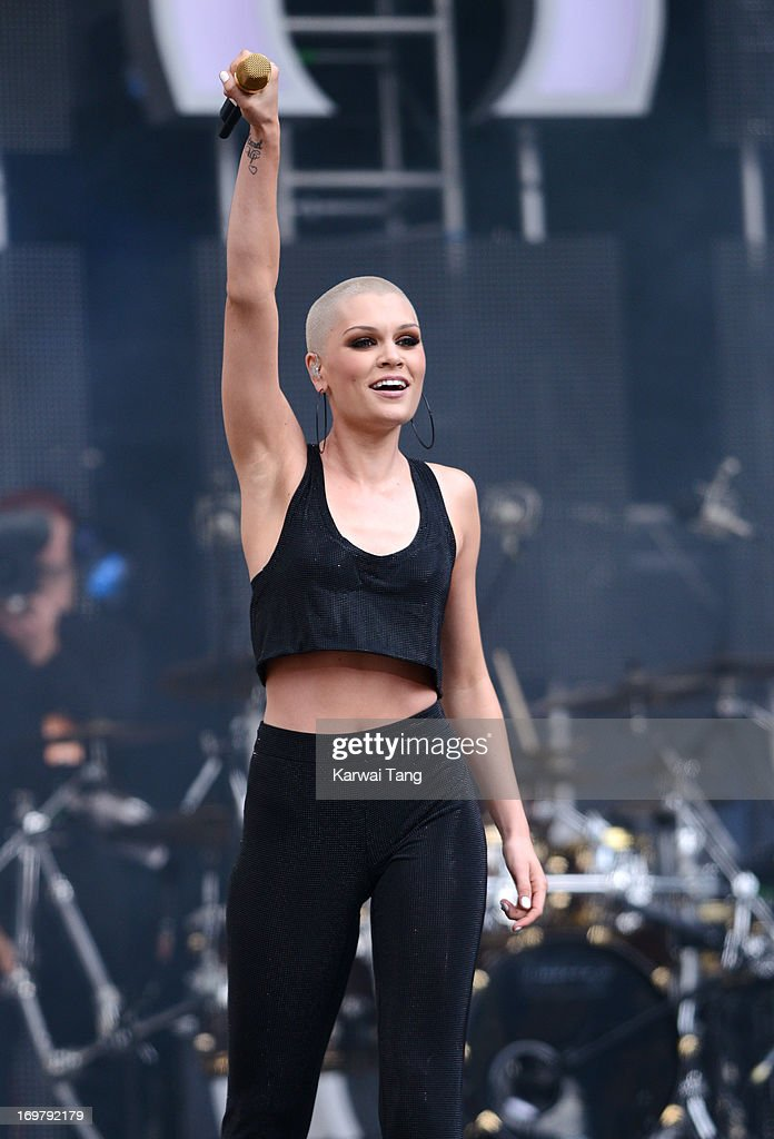 <a gi-track='captionPersonalityLinkClicked' href=/galleries/search?phrase=Jessie+J&family=editorial&specificpeople=5737661 ng-click='$event.stopPropagation()'>Jessie J</a> performs on stage at the 'Chime For Change: The Sound Of Change Live' Concert at Twickenham Stadium on June 1, 2013 in London, England. Chime For Change is a global campaign for girls' and women's empowerment founded by Gucci with a founding committee comprised of Gucci Creative Director Frida Giannini, Salma Hayek Pinault and Beyonce Knowles-Carter.