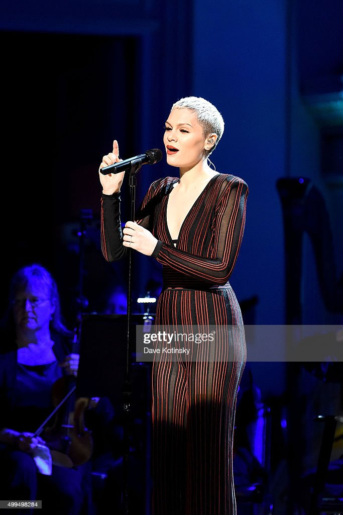 Jessie J performs on stage during the ONE Campaign and 's concert to mark World AIDS Day celebrate the incredible progress that's been made in the...